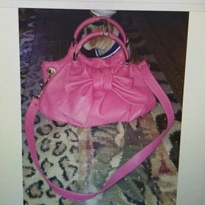 Lulu by business hot pink purse gold hardware